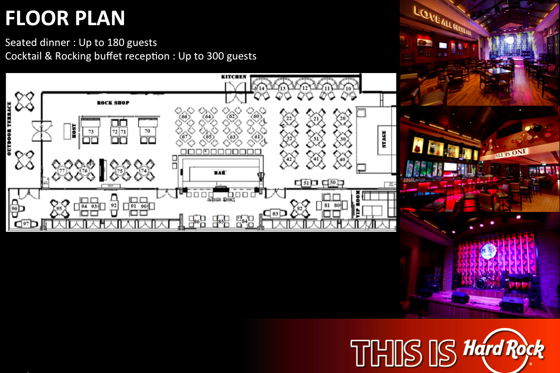 Hard Rock Cafe Floor Plan