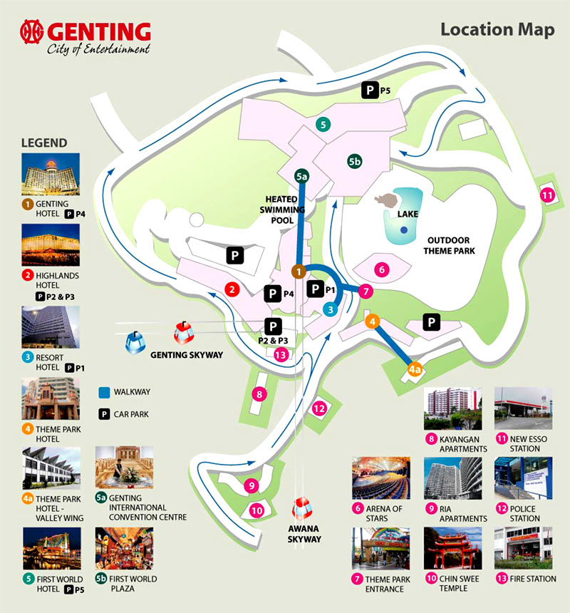 Site Map 2018: Arena Of Stars Genting Highlands